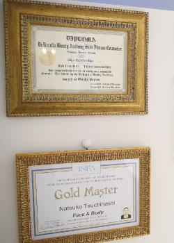 国際エステティック連盟認定エステティシャンゴールドマスター